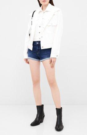 Женские джинсовые шорты PAIGE синего цвета, арт. 4281D84-7640 | Фото 2