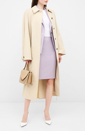 Женская юбка BOSS сиреневого цвета, арт. 50430497 | Фото 2