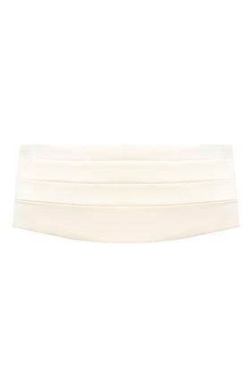 Женский пояс из шелка и шерсти MAGDA BUTRYM белого цвета, арт. 4195202007 | Фото 1