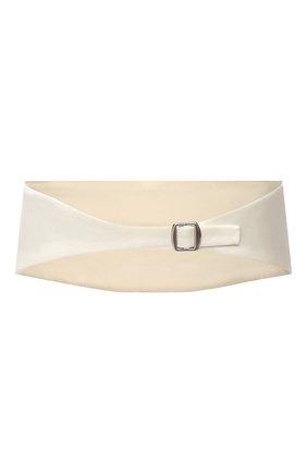 Женский пояс из шелка и шерсти MAGDA BUTRYM белого цвета, арт. 4195202007 | Фото 2