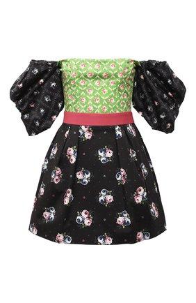 Женское хлопковое платье ULYANA SERGEENKO черного цвета, арт. ABC003SS20P (2229т19) | Фото 1