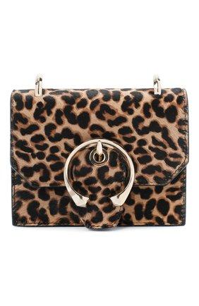 Женская сумка paris mini JIMMY CHOO леопардового цвета, арт. MINI PARIS/YTH | Фото 1