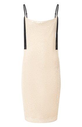Женское платье с пайетками DOROTHEE SCHUMACHER золотого цвета, арт. 848602/SLEEK RADIANCE | Фото 1