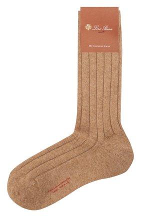 Женские кашемировые носки LORO PIANA бежевого цвета, арт. FAF8553   Фото 1