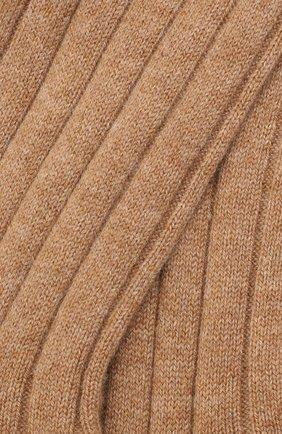Женские кашемировые носки LORO PIANA бежевого цвета, арт. FAF8553   Фото 2