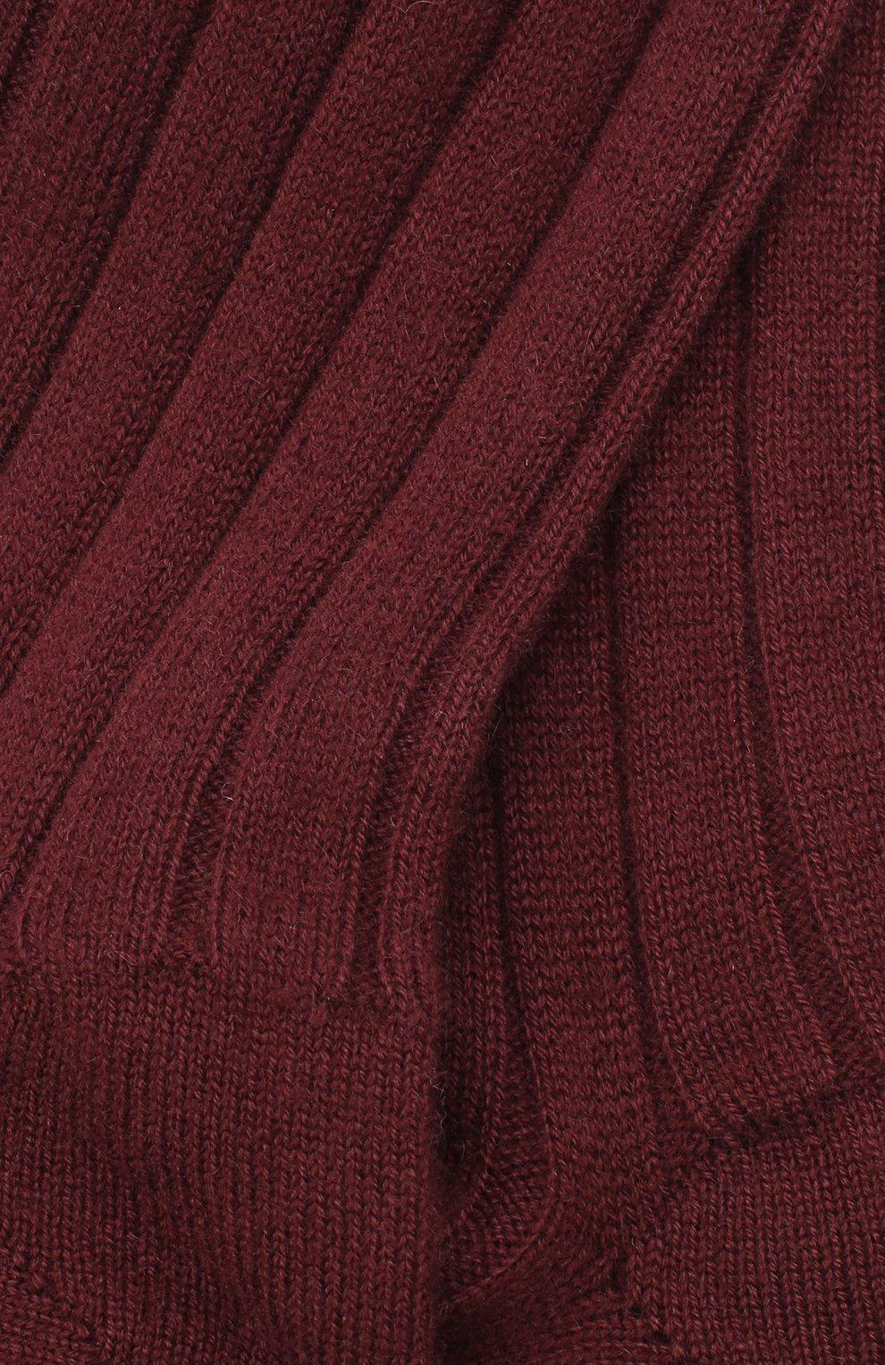 Женские кашемировые носки LORO PIANA бордового цвета, арт. FAF8553 | Фото 2