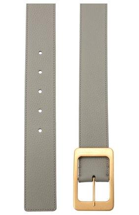 Женский кожаный ремень LORO PIANA серого цвета, арт. FAL3388   Фото 2 (Материал: Кожа)