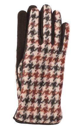 Женские перчатки  LORO PIANA коричневого цвета, арт. FAL3225 | Фото 1