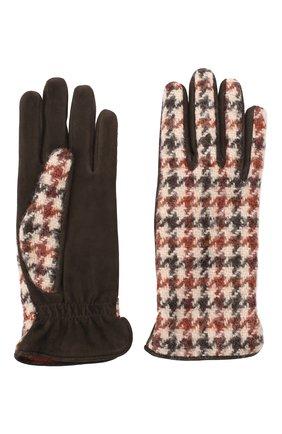 Женские перчатки  LORO PIANA коричневого цвета, арт. FAL3225 | Фото 2
