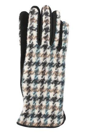 Женские перчатки  LORO PIANA синего цвета, арт. FAL3225 | Фото 1