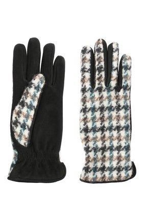 Женские перчатки  LORO PIANA синего цвета, арт. FAL3225 | Фото 2