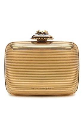 Женский клатч ring small ALEXANDER MCQUEEN золотого цвета, арт. 594534/J160K | Фото 1