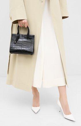 Женская сумка za 62 из кожи аллигатора ALAIA черного цвета, арт. AS1G072PZA62/AMIS | Фото 2