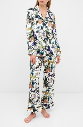 Женская шелковая пижама OLIVIA VON HALLE разноцветного цвета, арт. PS2001 | Фото 1