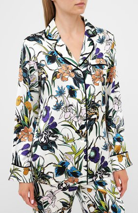 Женская шелковая пижама OLIVIA VON HALLE разноцветного цвета, арт. PS2001 | Фото 2