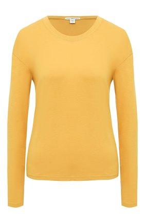 Женская хлопковый лонгслив JAMES PERSE желтого цвета, арт. WLJ3113 | Фото 1