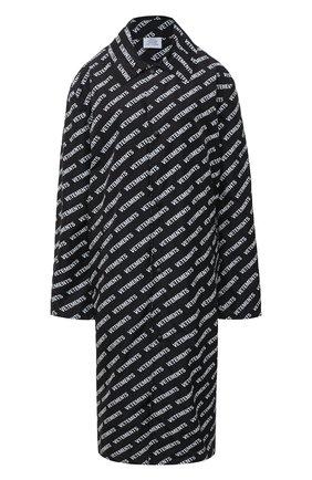 Женский плащ VETEMENTS черно-белого цвета, арт. UAH21JA028 1008/W | Фото 1