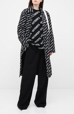 Женская свитер из хлопка и кашемира VETEMENTS черно-белого цвета, арт. UAH21KN047 1050/W | Фото 2