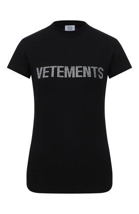 Женская футболка VETEMENTS черного цвета, арт. WAH21TR523 1607/BLACK | Фото 1