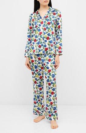 Женская шелковая пижама YOLKE разноцветного цвета, арт. SS20-02S-DV-M | Фото 1