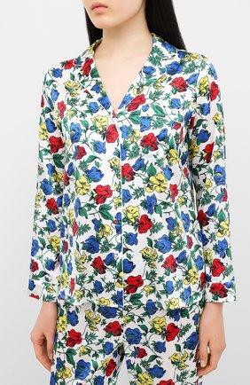 Женская шелковая пижама YOLKE разноцветного цвета, арт. SS20-02S-DV-M | Фото 2