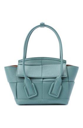 Женская сумка arco mini BOTTEGA VENETA голубого цвета, арт. 600606/VA981   Фото 1