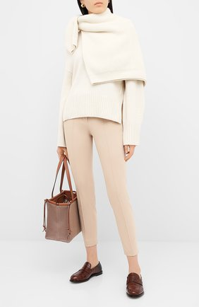 Женские хлопковые брюки LORO PIANA светло-бежевого цвета, арт. FAL3050 | Фото 2