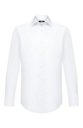 Мужская хлопковая сорочка BOSS белого цвета, арт. 50433148 | Фото 1