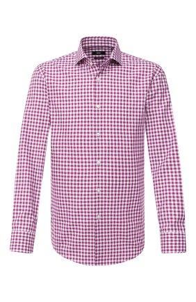 Мужская хлопковая сорочка BOSS розового цвета, арт. 50433329 | Фото 1