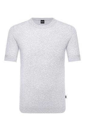 Мужской хлопковый джемпер BOSS серого цвета, арт. 50430114 | Фото 1