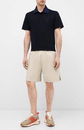 Мужские комбинированные кроссовки LANVIN бежевого цвета, арт. FM-SKBRUN-NYL0-A20 | Фото 2