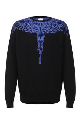 Мужской свитер MARCELO BURLON черного цвета, арт. CMHE024E20KNI002 | Фото 1