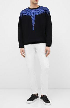 Мужской свитер MARCELO BURLON черного цвета, арт. CMHE024E20KNI002 | Фото 2