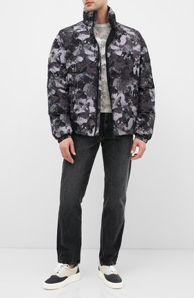 Мужская пуховая куртка MARCELO BURLON серого цвета, арт. CMED028E20FAB003 | Фото 2