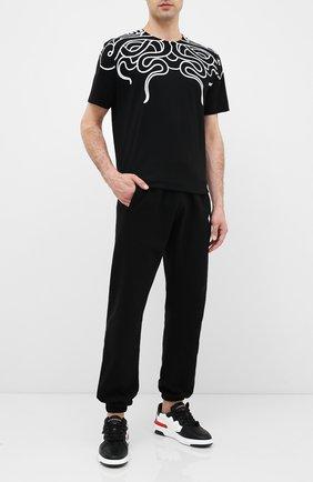 Мужская хлопковая футболка MARCELO BURLON черного цвета, арт. CMAA018E20JER007 | Фото 2