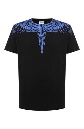 Мужская хлопковая футболка MARCELO BURLON черного цвета, арт. CMAA018E20JER003 | Фото 1