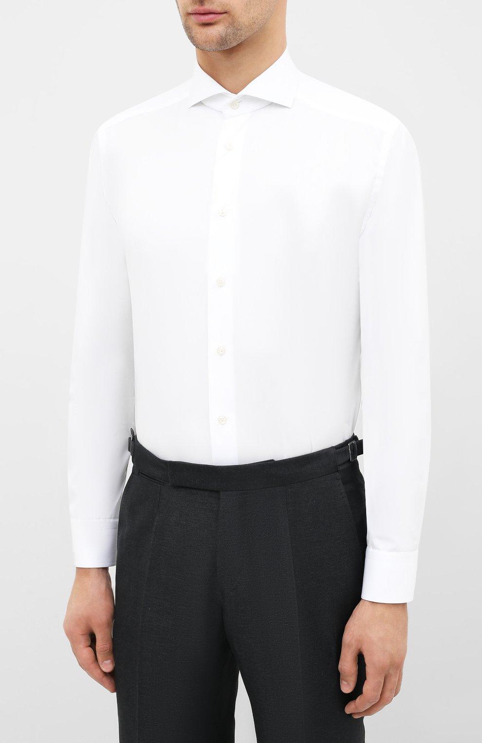 Мужская хлопковая сорочка ETON белого цвета, арт. 2567 73511 | Фото 3