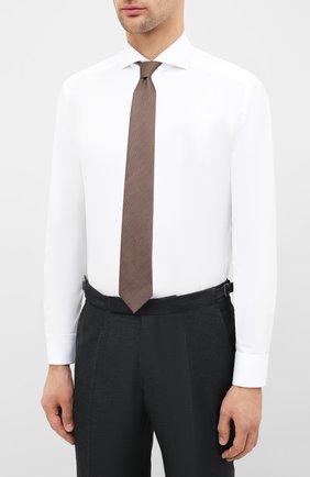 Мужская хлопковая сорочка ETON белого цвета, арт. 2567 73511 | Фото 4