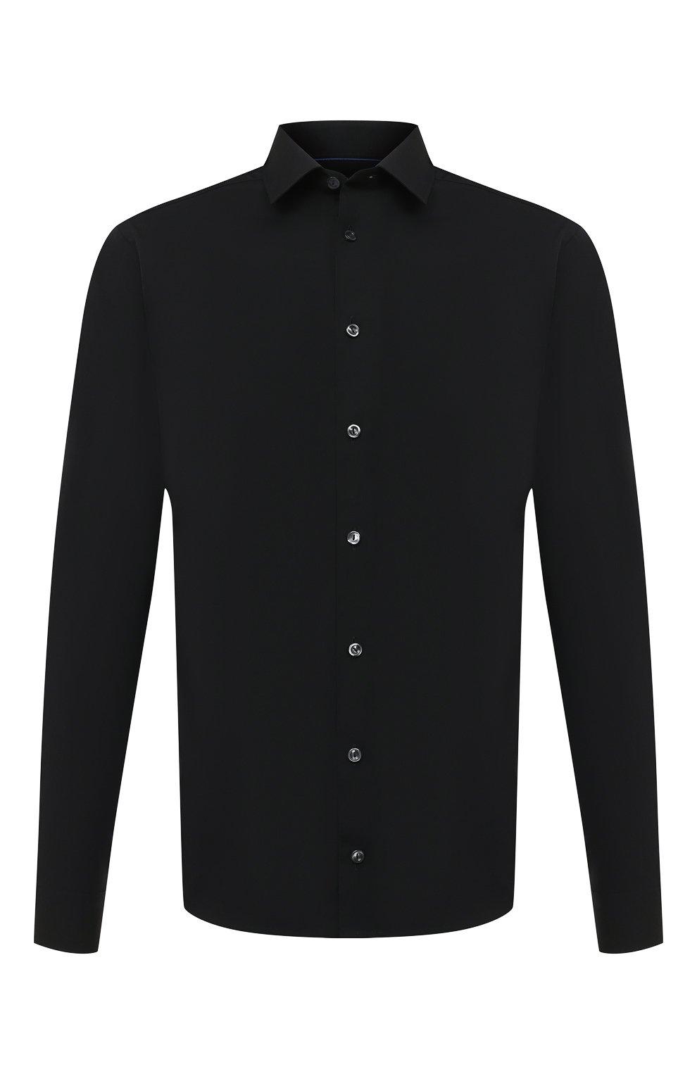 Мужская хлопковая сорочка ETON черного цвета, арт. 2567 88811   Фото 1