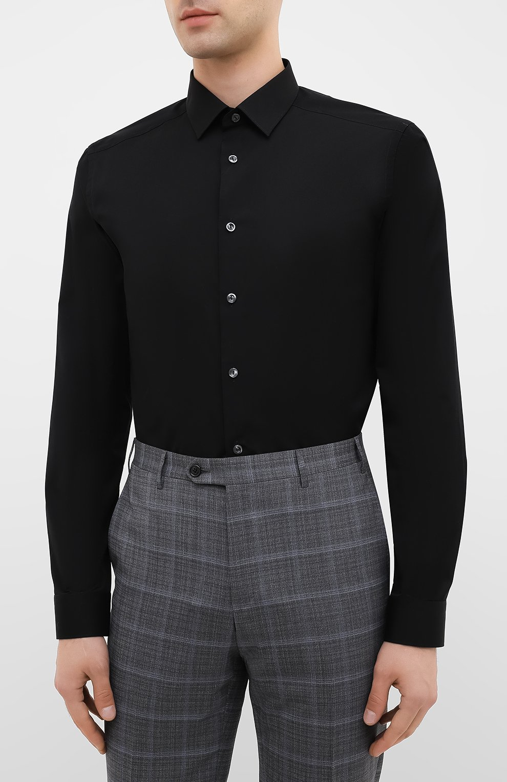 Мужская хлопковая сорочка ETON черного цвета, арт. 2567 88811   Фото 3