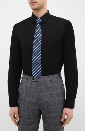 Мужская хлопковая сорочка ETON черного цвета, арт. 2567 88811   Фото 4