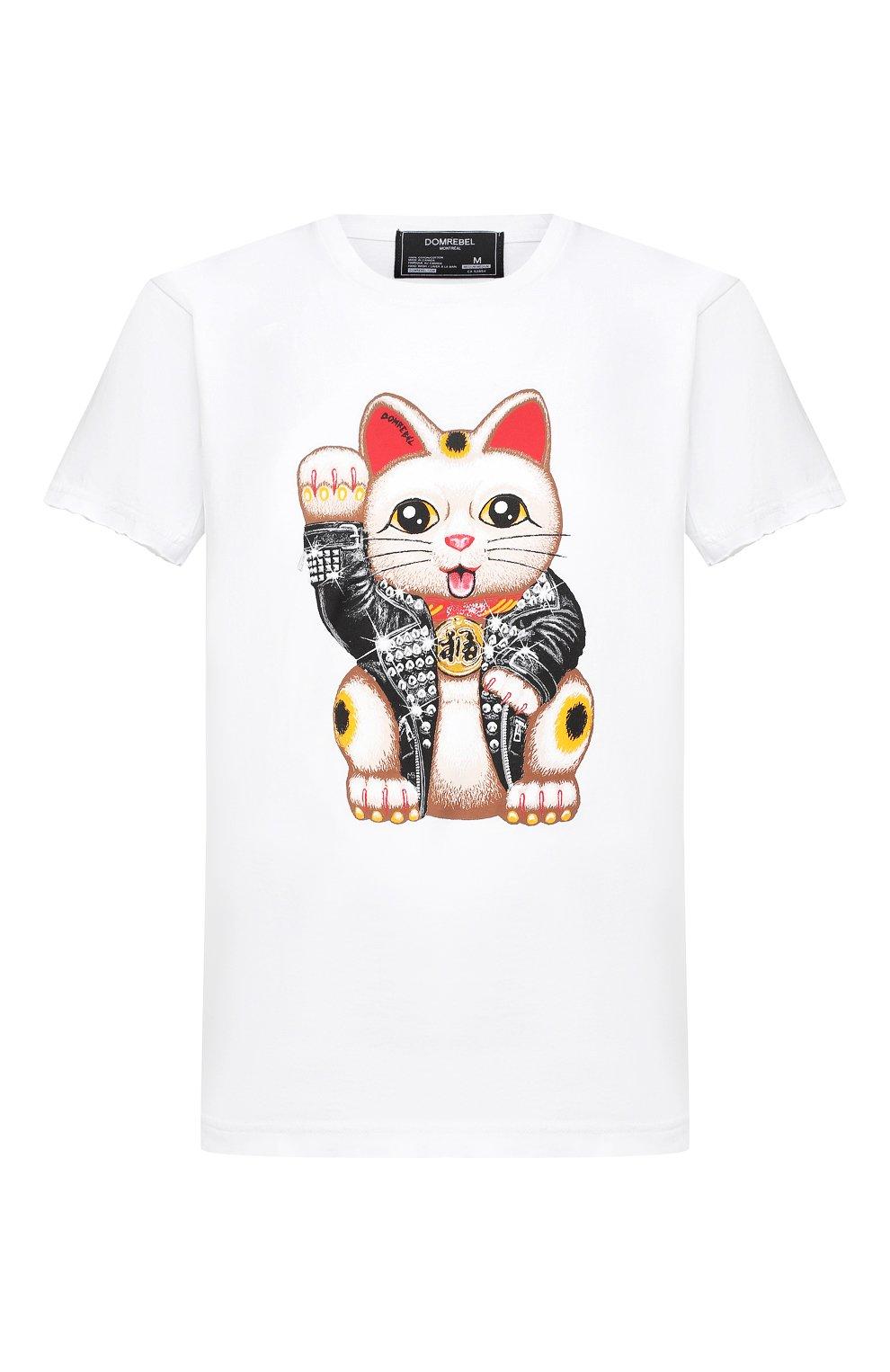 Мужская хлопковая футболка DOM REBEL белого цвета, арт. LUCKY/T-SHIRT | Фото 1