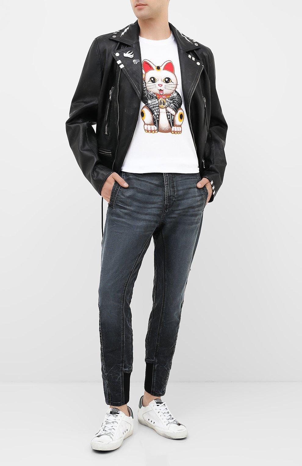 Мужская хлопковая футболка DOM REBEL белого цвета, арт. LUCKY/T-SHIRT | Фото 2