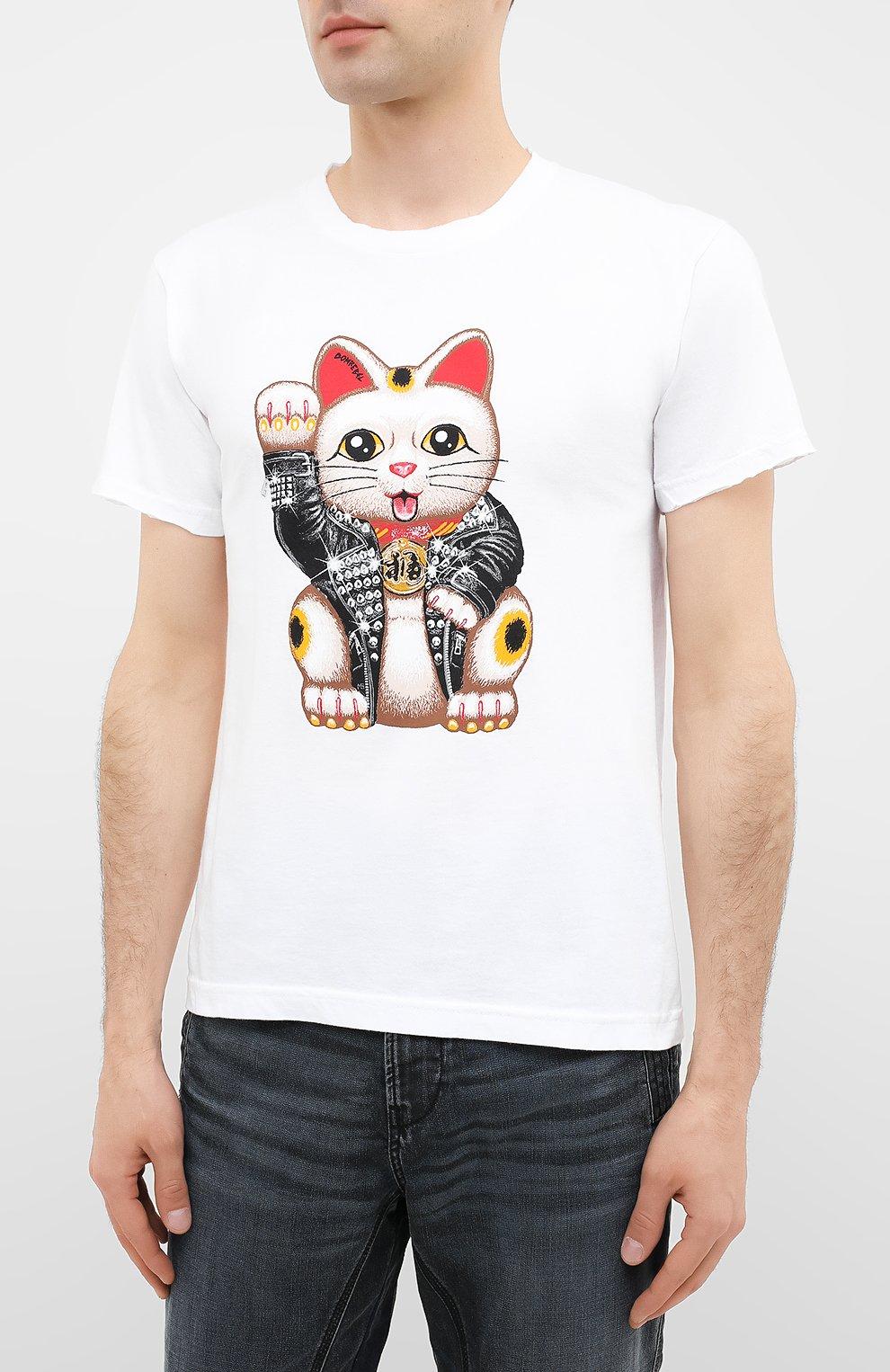 Мужская хлопковая футболка DOM REBEL белого цвета, арт. LUCKY/T-SHIRT | Фото 3
