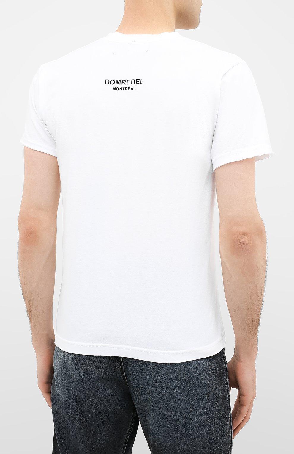 Мужская хлопковая футболка DOM REBEL белого цвета, арт. LUCKY/T-SHIRT | Фото 4