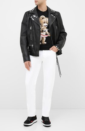 Мужская хлопковая футболка DOM REBEL черного цвета, арт. SNAP/T-SHIRT/H0LES | Фото 2