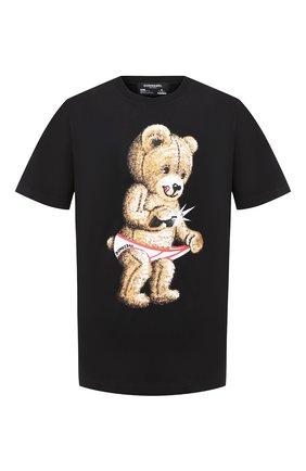 Мужская хлопковая футболка DOM REBEL черного цвета, арт. SNAP/B0X T-SHIRT | Фото 1