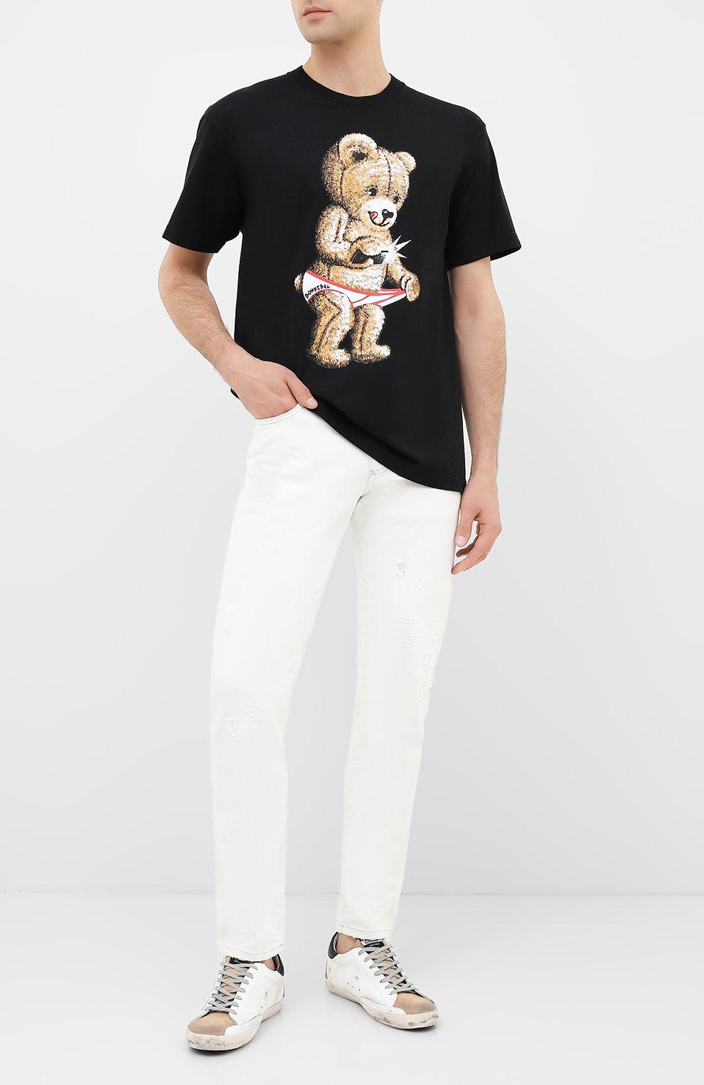 Мужская хлопковая футболка DOM REBEL черного цвета, арт. SNAP/B0X T-SHIRT | Фото 2