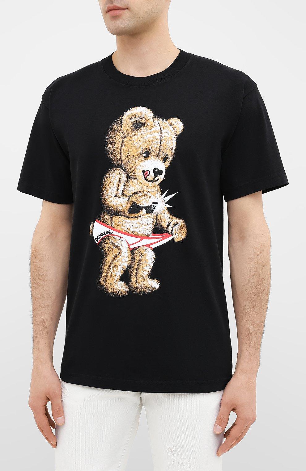 Мужская хлопковая футболка DOM REBEL черного цвета, арт. SNAP/B0X T-SHIRT | Фото 3