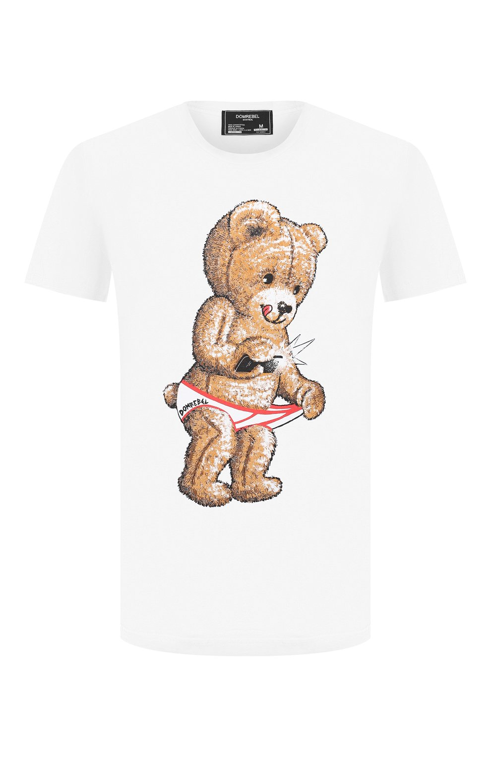 Мужская хлопковая футболка DOM REBEL белого цвета, арт. SNAP/B0X T-SHIRT | Фото 1